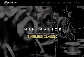 Minimalize One Page HTML
