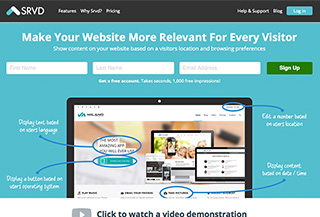 Srvd - Web Personalization