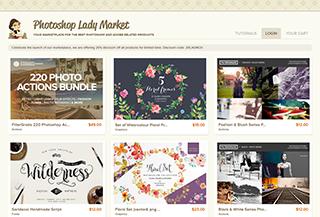 Photoshop Lady Market