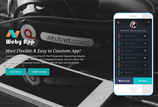Weby - App Landing Template