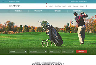 Hotel WordPress Theme Leisure