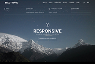 Electronic - HTML5 Template