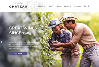 Chateau Wine Producer Template