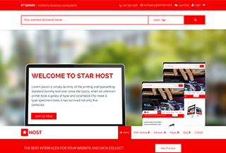 Star Host HTML Template