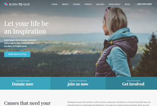 Born To Give - HTML5 Template