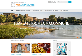 Macommune Joomla template
