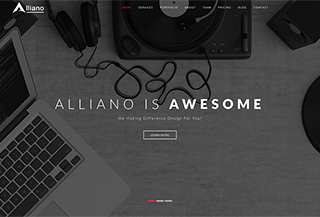 Alliano One Page Template