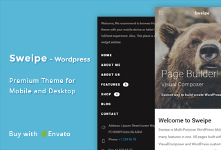 Sweipe - Mobile WordPress