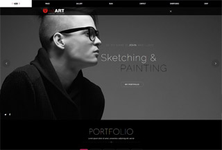 Red Art Photography Theme
