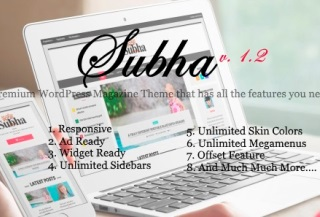 Subha- Newspaper Theme