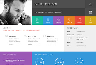Gridus Resume WordPress theme