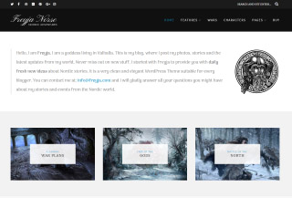Freyja - Free WP Blog Theme