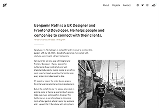 Benjamin Roth. UX Designer and Frontend Developer