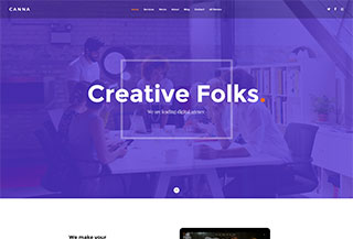 Canna - Digital Agency HTML Template
