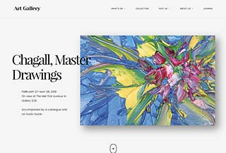 Art Gallery WordPress Theme | Arte