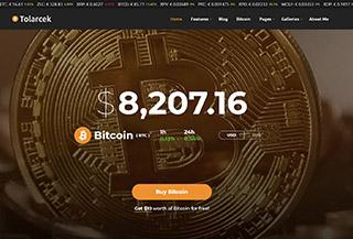 Tolarcek - A Bitcoin WP Theme